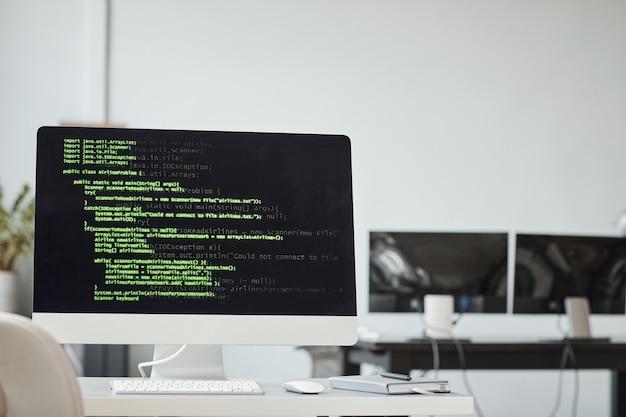 Sfondo di programmazione in ufficio