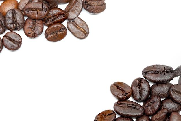 Chicco di caffè sfondo bianco
