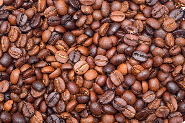 Sfondo di chicchi di caffè.