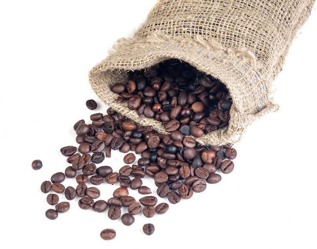 Chicchi di caffè in sacchetto