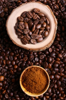 Chicchi di caffè, primi piani