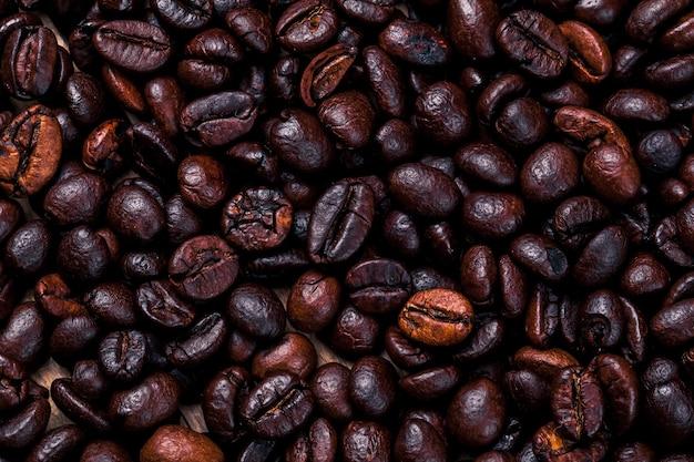Chicchi di caffè. bere. sfondo