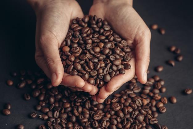 Chicchi di caffè, elementi di caffè tostato
