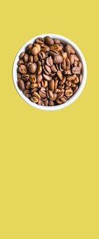 Chicchi di caffè tostati grano aromatico americano