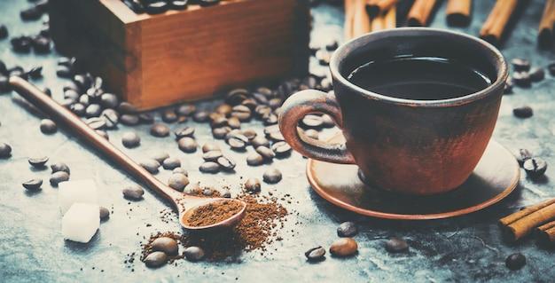 Tazza di caffè. cibo e bevande. foto.