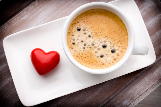 Caffè e cuore.