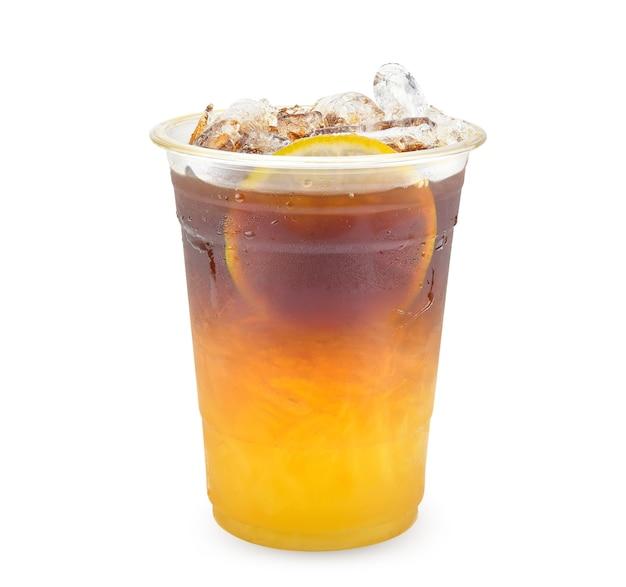 Caffè miele limone isolato su bianco