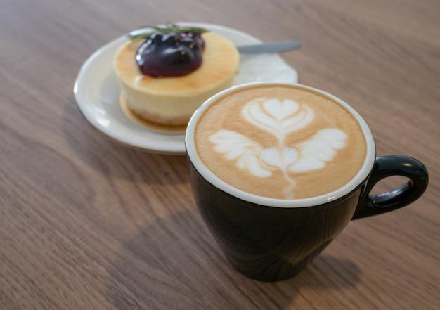 Tazza e torta di caffè
