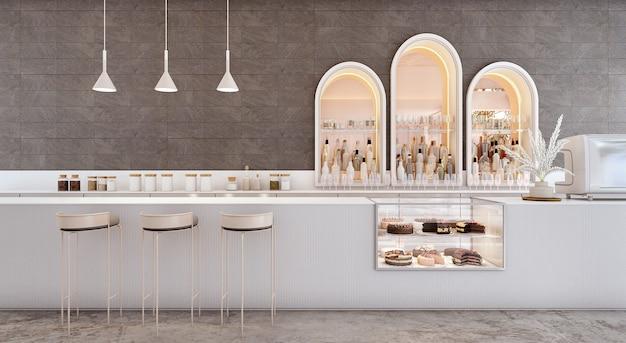 Interiore della barra del contatore della caffetteria