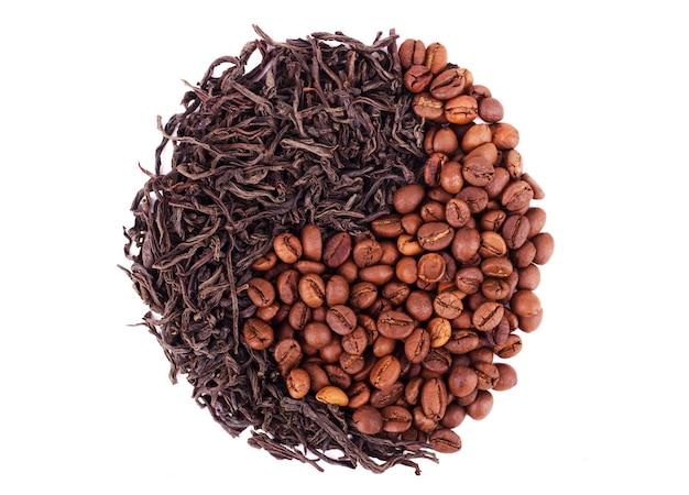 Caffè contro tè yin yang