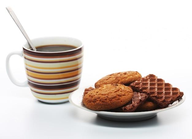 Caffè con biscotti