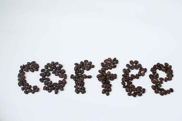 Parola di caffè dai fagioli