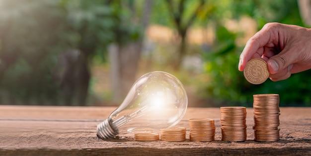 Idee per monete idee per lampadine impilate invece di fiorire