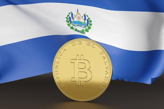 Moneta con il simbolo bitcoin e la scritta