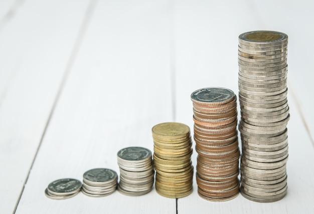 Accatastamento di monete