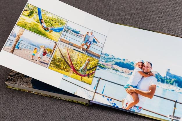 Collage di immagini della vita di una persona, fotolibro viaggio vacanza in italia