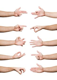 Raccolta di gesti delle mani