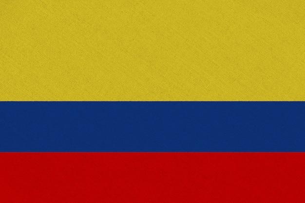 Bandiera tessuto colombia