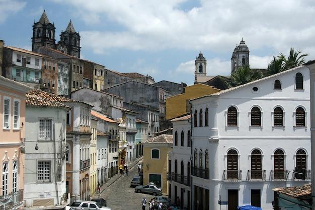 Architettura coloniale di salvador - pelourinho, brasile. 2017.