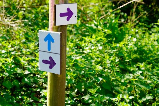 Contrassegno della freccia di colore del percorso del sentiero