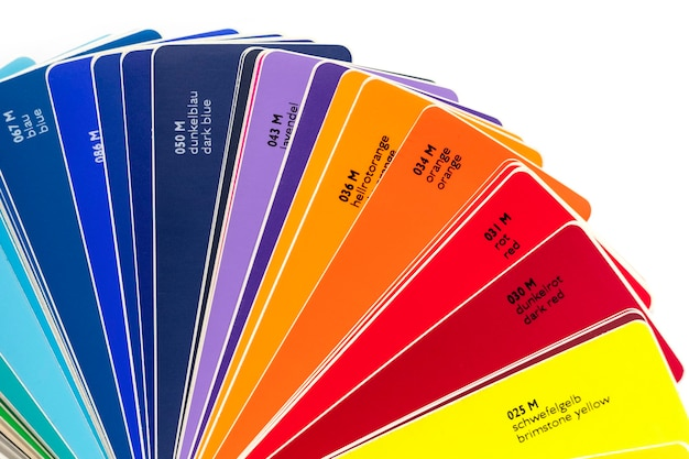 Fan dei colori del film in vinile per il design. sfondo bianco