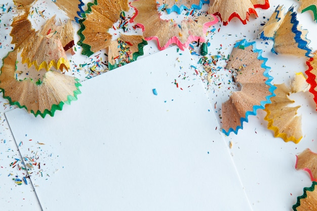 Trucioli di matita colorata
