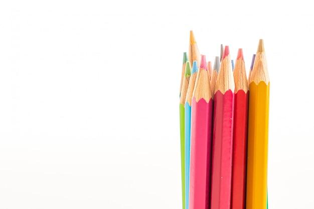 Matita colorata con spazio di copia