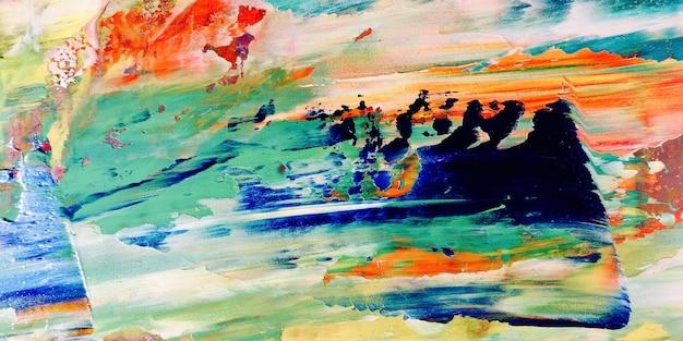 Consistenza del colore. pittura a olio disegnata a mano su canva