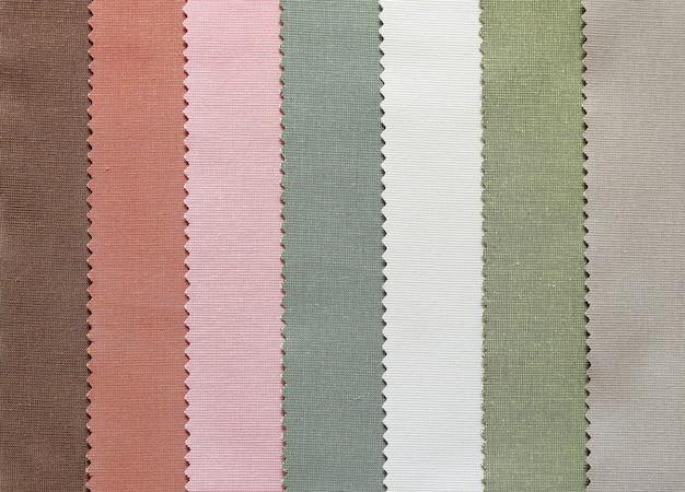 Tono di colore del tessuto di campione di tessuto per sfondo
