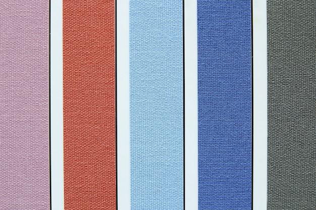 Tono di colore dei campioni di swatch di tessuti
