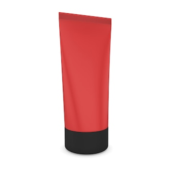 Tubo di colore per crema isolato nell'immagine di rendering 3d