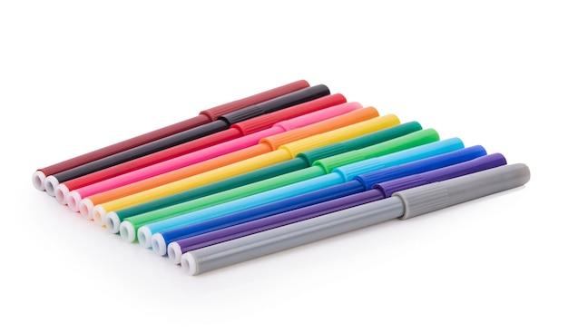 Penna colore isolata su bianco