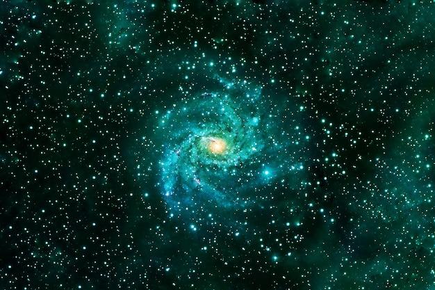 Bella galassia colorata. gli elementi di questa immagine sono stati forniti dalla nasa. foto di alta qualità