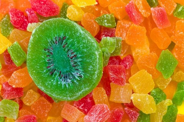 Sfondo colorato di frutta candita