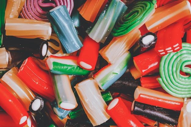 Marmellata figurata colorata. sfondo culinario colorato per designer