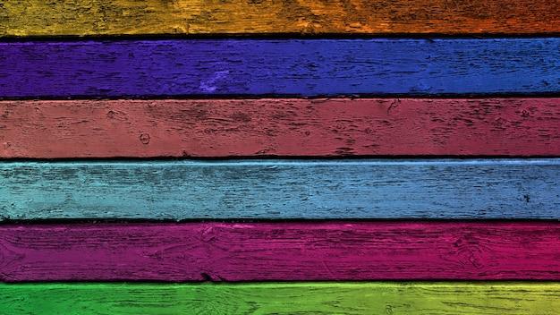 Sfondo sfumato colorato. assi di legno orizzontali