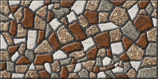 Struttura in granito naturale colorato. piastrelle in rilievo in pietra naturale.