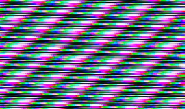 Illustrazione astratta di pixel glitch colorato a 8 bit