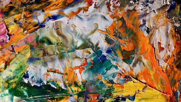 Colorato sfondo astratto dipinto ad olio su tela