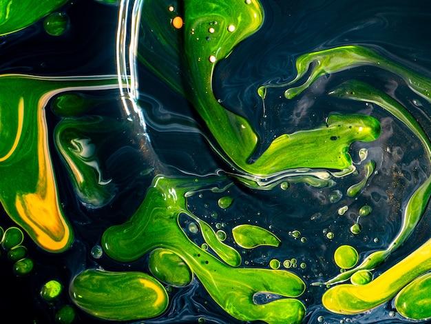 Texture astratta colorata con vernice acrilica in movimento