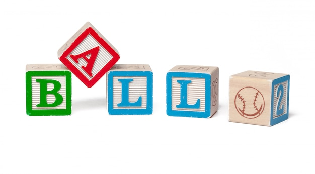 Blocchi di legno alfabeto colorato