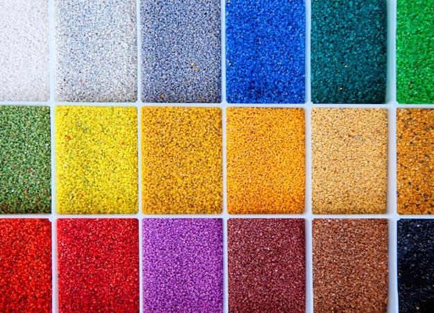 Campione di architetto colorato di pietre di colore Foto Premium