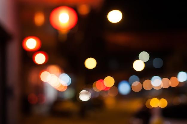 Sfondo colorato sfocato texture bokeh e luci scintillanti sfocate. Foto Premium