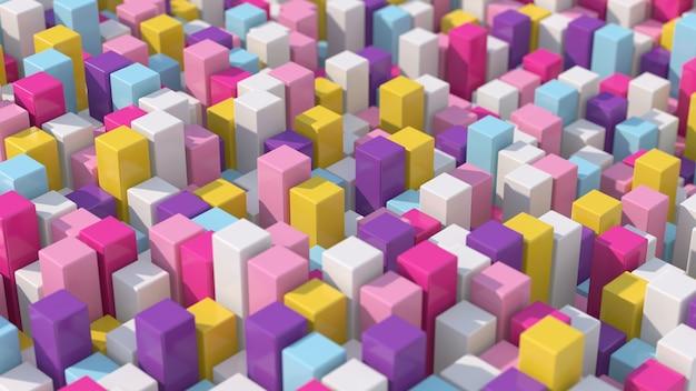 Blocchi colorati. avvicinamento. illustrazione astratta, rendering 3d.