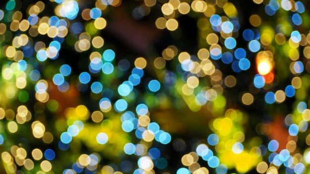 Colorful bokeh sfocato luci di notte.