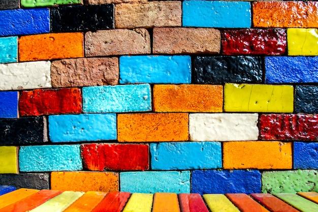 Annata variopinta di struttura del modello del fondo del muro di mattoni