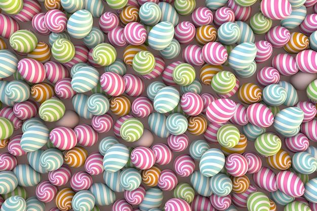 Sfondo di uova di pasqua colorate