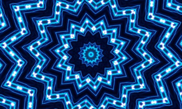 Sfondo caleidoscopico colorato - bella simmetria geometrica, chakra blue color energy series