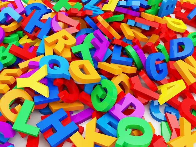 Cenni storici astratti delle lettere variopinte