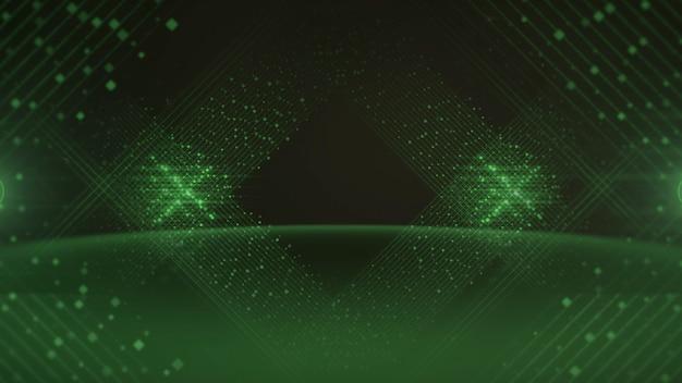 Linee colorate di punti, sfondo astratto. stile dinamico elegante e lussuoso per l'illustrazione 3d dei premi